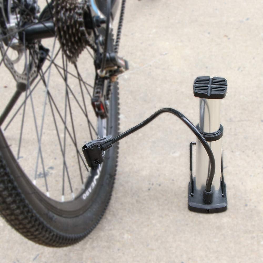 Houkiper Bomba de Aire de la Bicicleta de la aleaci/ón de Aluminio de la Bicicleta del pie del inflador de Bicicleta del neum/ático del Ciclo
