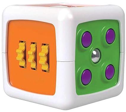 Fisher-Price - Mi primer cubo fidget, juguete de aprendizaje bebé (Mattel FWP34