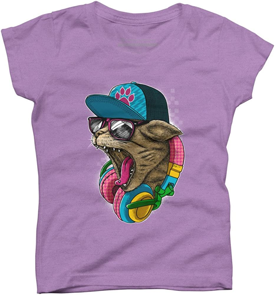 Design By Humans Cool /& Wild Girls Youth Graphic T Shirt