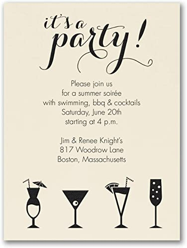 Amazon Com 975pk It S A Cocktail Party Party Invitation