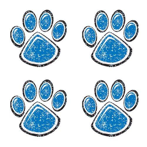 Blue Glitter Paw Print Temporary Tattoo]()