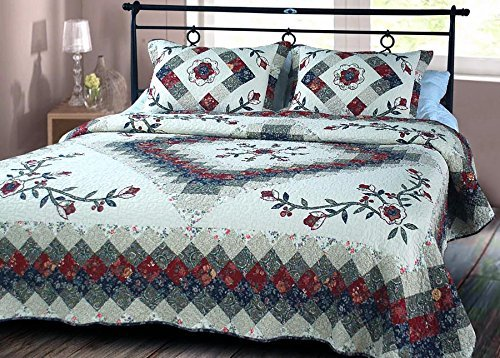 Victorian Treasure Quilt Luxury Oversize King Cotton Quilts