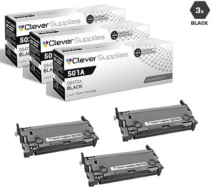 5 pk Q6470A Toner for Color 3600n Color 3600dn Color CP3505n Printer HI-QTY!