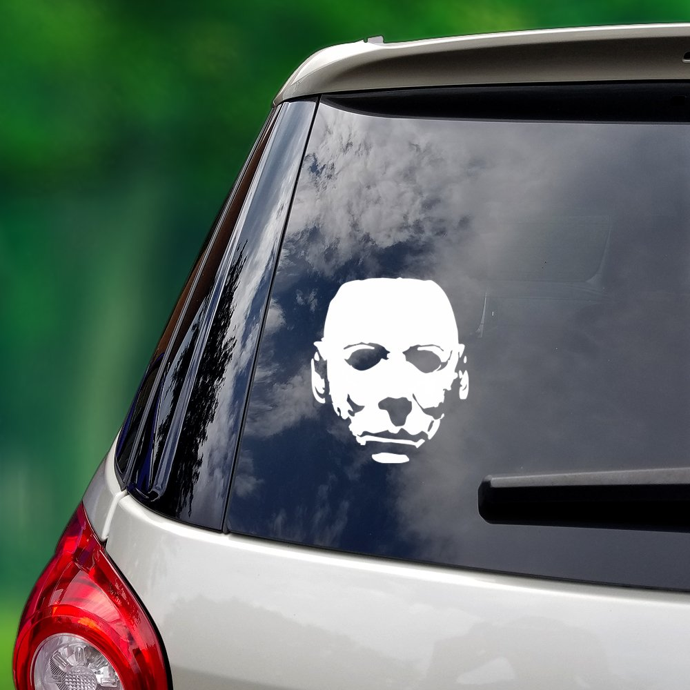 8b539796eb90 Michael Myers Mask - Multi-Use Vinyl Decal (Cars Laptop Home) - 5 x ...