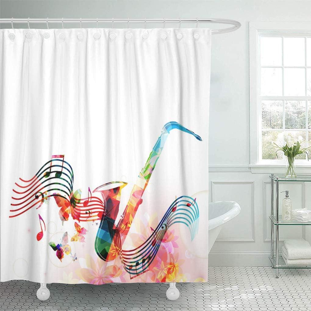 Amazon.com: Semtomn Shower Curtain Brass Colorful