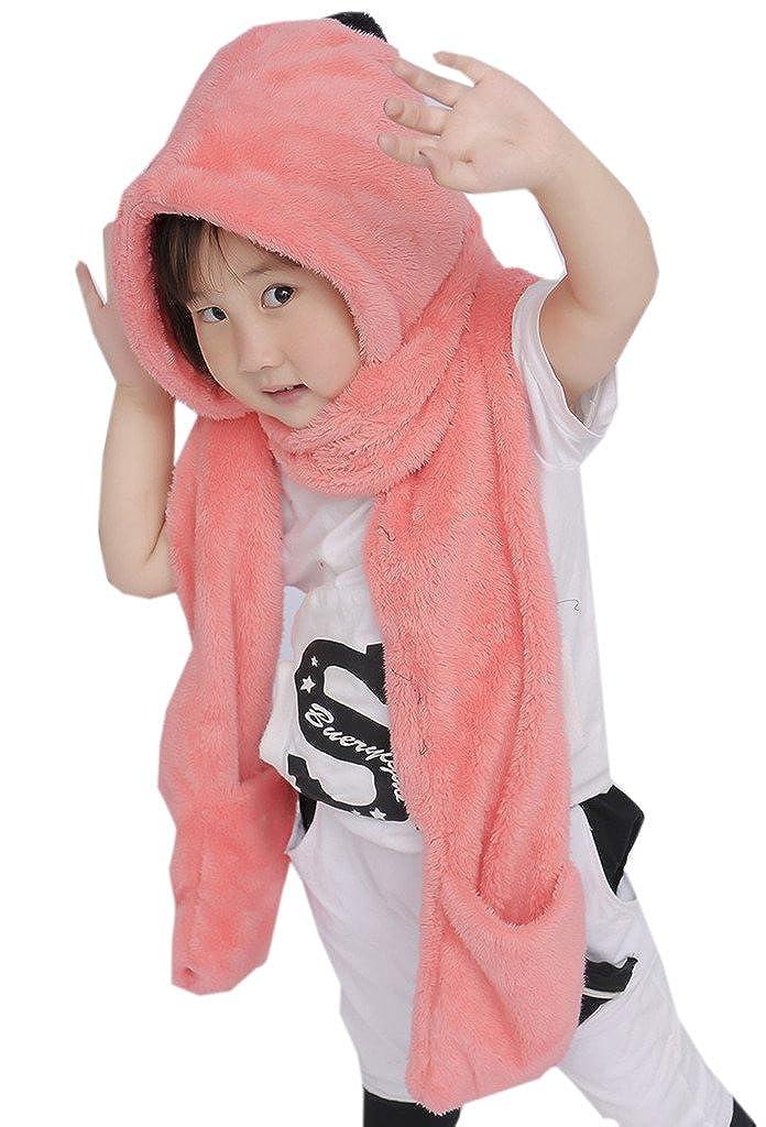 YiyiLai Baby Flanell Funktion Handschuh Halstuch Mütze mit Bommel YYL-AARSERF-0089