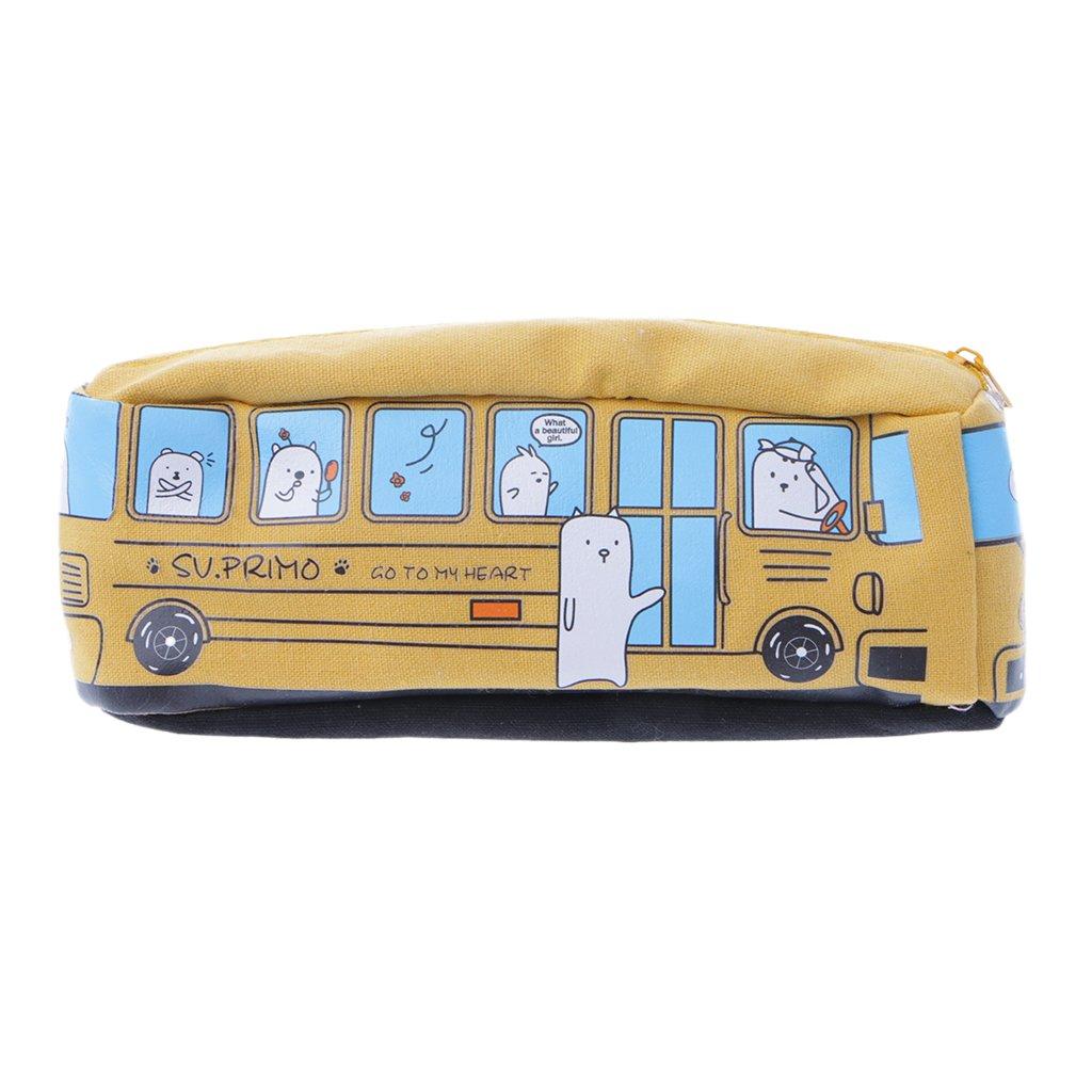 Exing École Crayon Cas Crayon Stylo Titulaire Sac de Stockage de L'école Fille Maquillage sac, sac en toile, poche à fermeture éclair, Kawaii sac poche à fermeture éclair