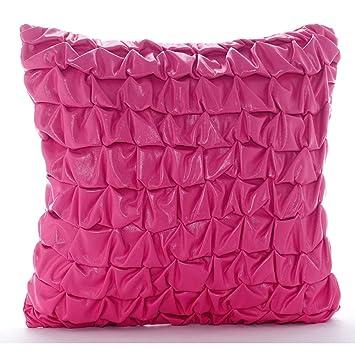 Amazon.com: Fundas de almohada color rosa cálido, con nudos ...