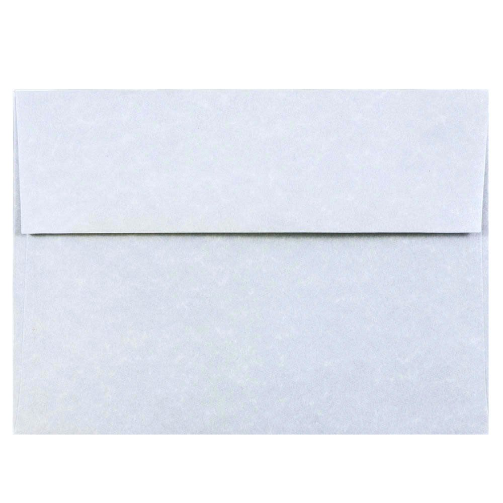 JAM Paper A7 Invitation Envelope - 133.35 x 184.15mm|5 1/4 x 7 1/4 - Parchment Blue Recycled - 50/pack JAM Paper & Envelope
