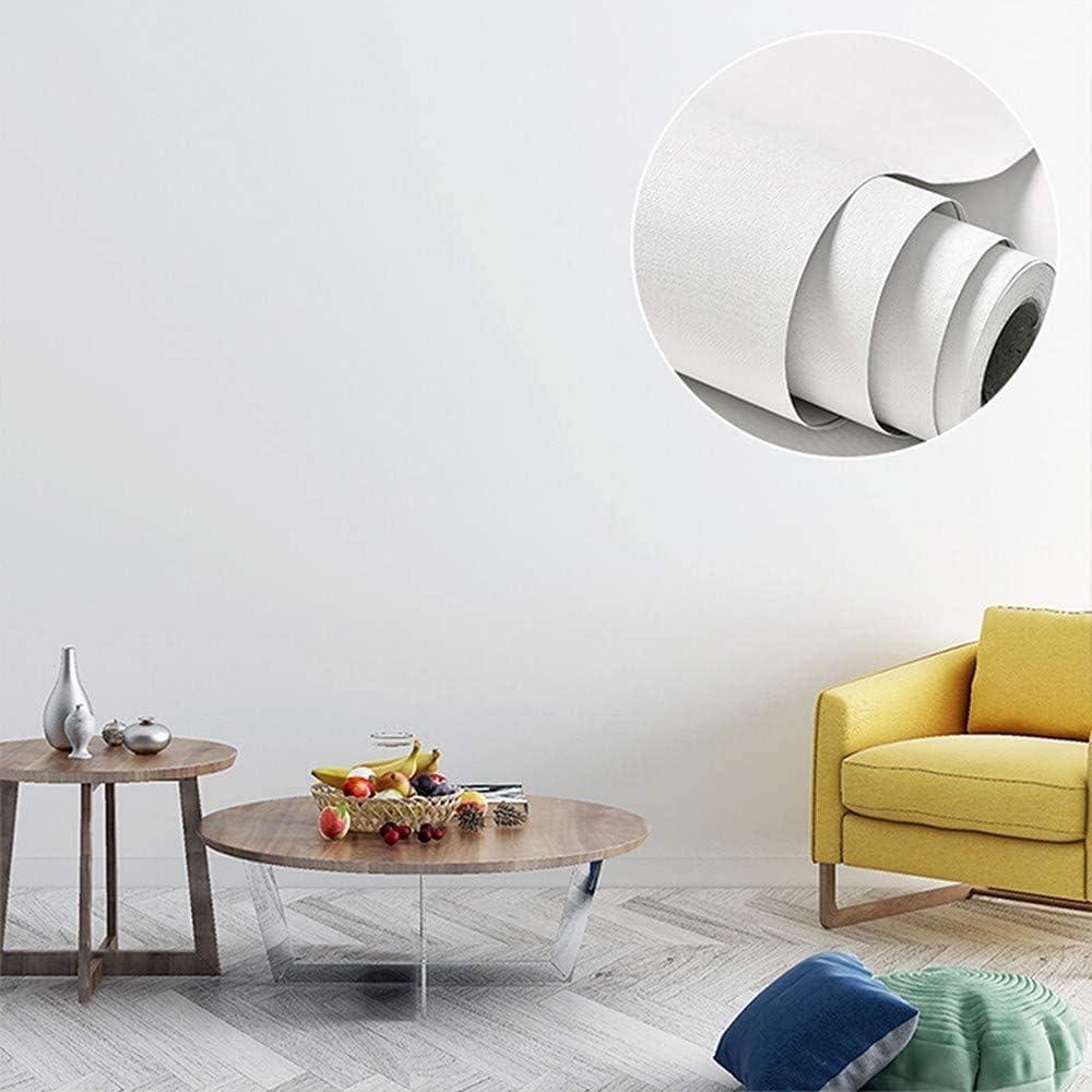 Papel Adhesivo para Mueble Blanco 40X300 cm PVC Material Adhesivo para Muebles Armario Decorativo Encimeras Mostradores de Bar Pegatinas de Renovaci/ón de Muebles