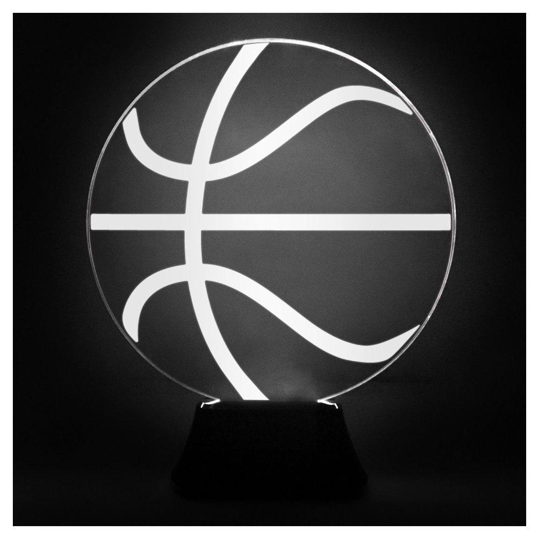 ChalkTalkSPORTS Basketball Acrylic LED Lamp | Basketball Lamps Multiple Designs ChalkTalk SPORTS bk-01832