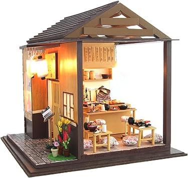 Casa de muñecas de mi casa de sushi, con luces LED, DIY juguete ...