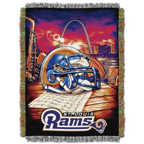 The Northwest Company Officially Licensed NFL St. Louis Rams Home Field Advantage Woven Tapestry Throw Blanket, 48