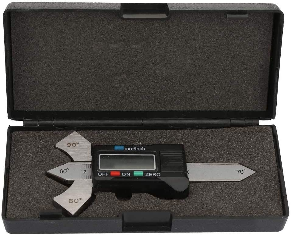 20mm Electronic Digital Welding Gauge Seam Bead Gage Weld Test Fillet Inspection Metric Inch Gauge with Storage Box