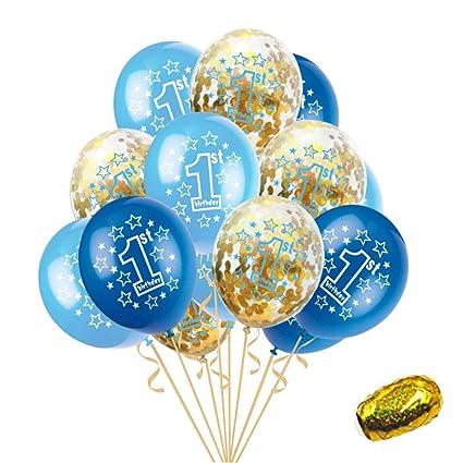 Amazon.com: Globos de primer cumpleaños, decoración de ...
