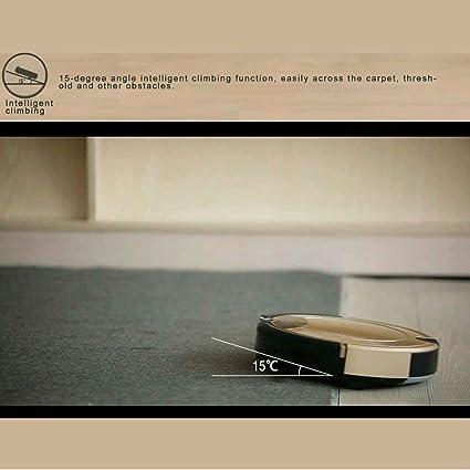 El robot aspirador inteligente utilizado para el filtro de pieles de mascotas, limpia los pisos duros de las alfombras de pila media de la máquina de pisos ...