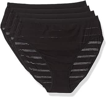Hanes Ultimate Women's Comfort Flex Fit 4 Pack Hi-Cut Panties