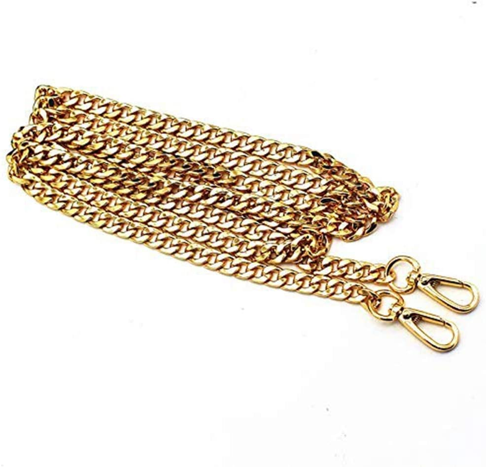 with 2 Metal Buckles Searea 55 Iron Flat Chain Strap Handbags Accessories Replacement Chains for Wallet Purse Straps Shoulder Straps Gold