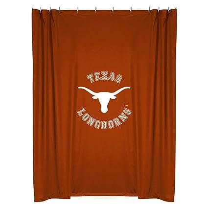 Amazon NCAA Texas Longhorns College Bathroom Accent Shower