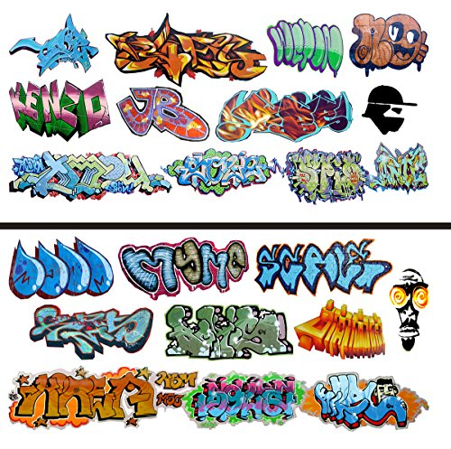 (HO Scale Graffiti Waterslide Decals 2-Pack #11 - Weather Your Box Cars, Hoppers, & Gondolas!)