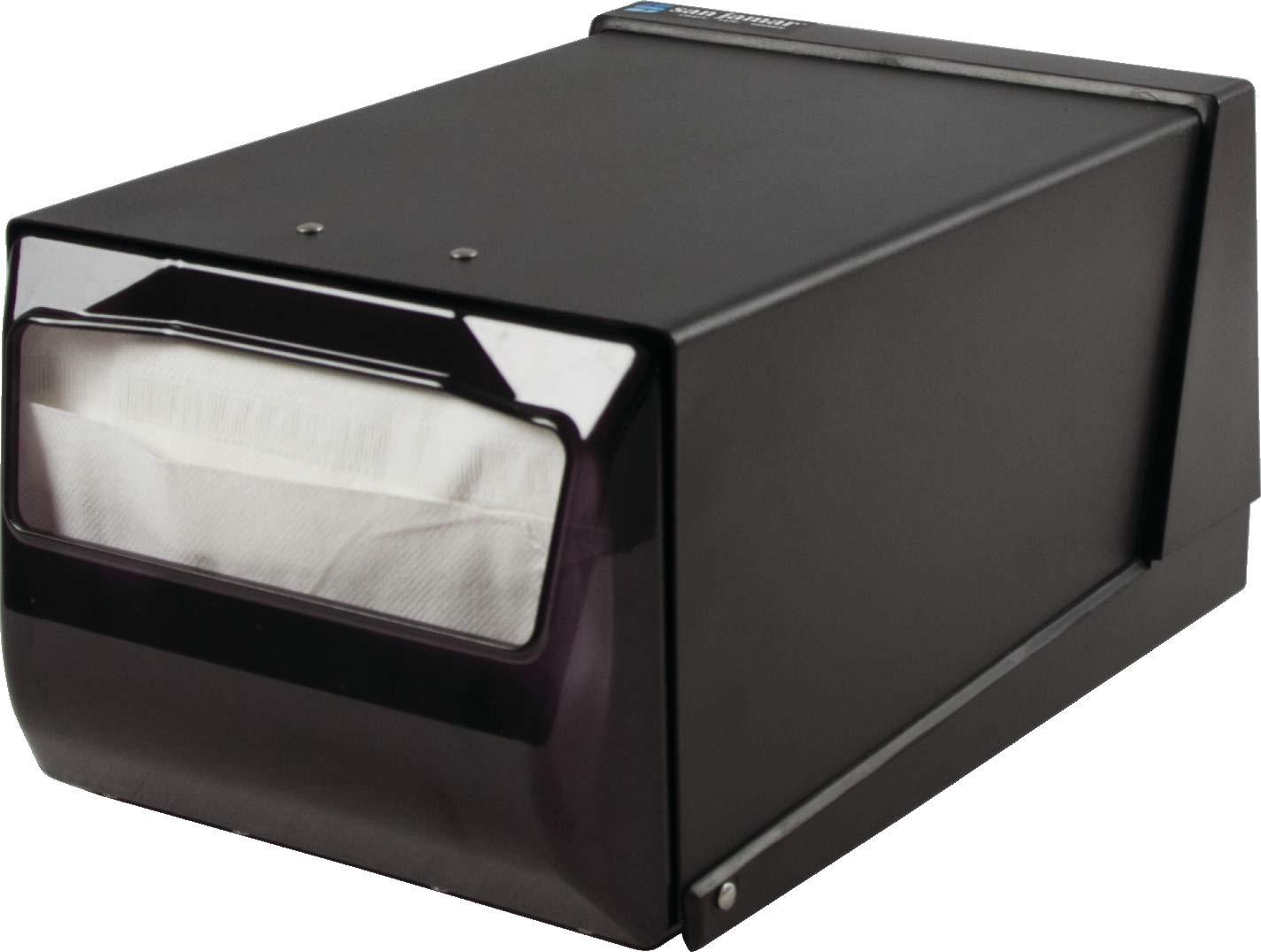 San Jamar H3001 Countertop Fullfold Napkin Dispenser, 300 Capacity, 7-5/8'' Width x 5-1/2'' Height x 11'' Depth, Black Pearl/Black by San Jamar