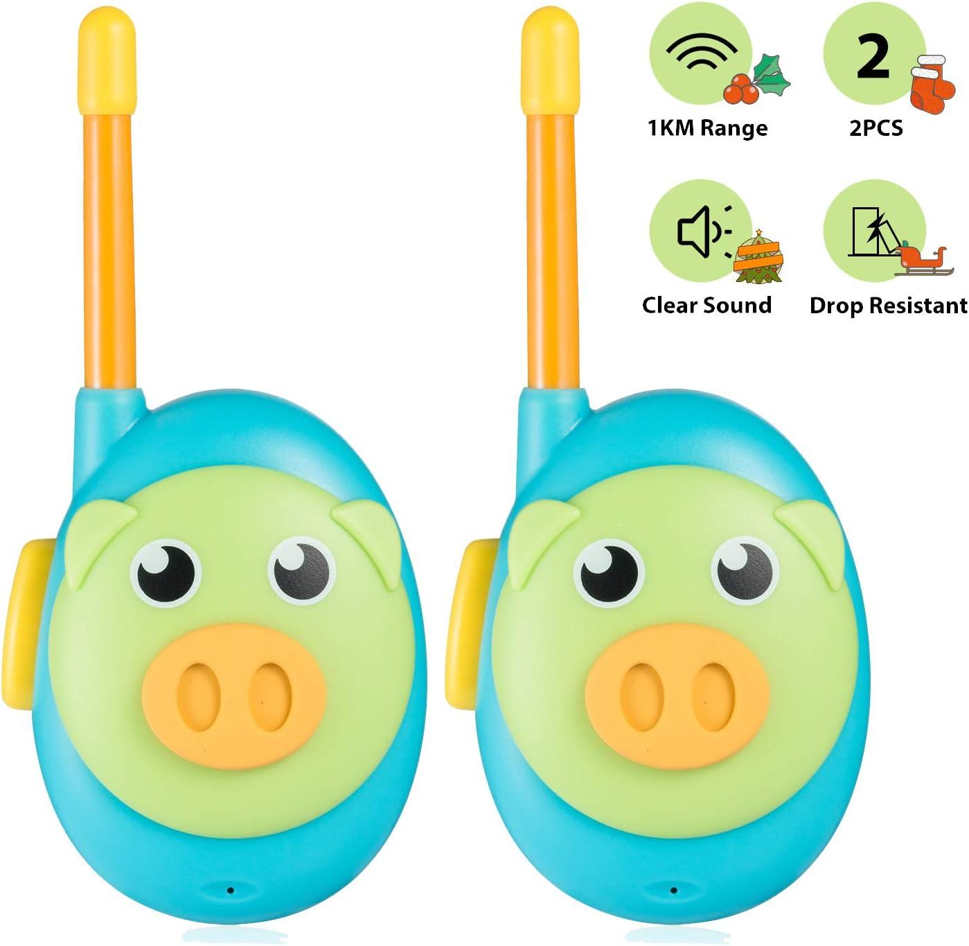 Jaybest Walkie Talkie, 2 Pack Walkie Talkie para Niños con Radio Bidireccional 1 Millas de Largo Alcance, Regalos para Niños de 3+ años. (Azul)