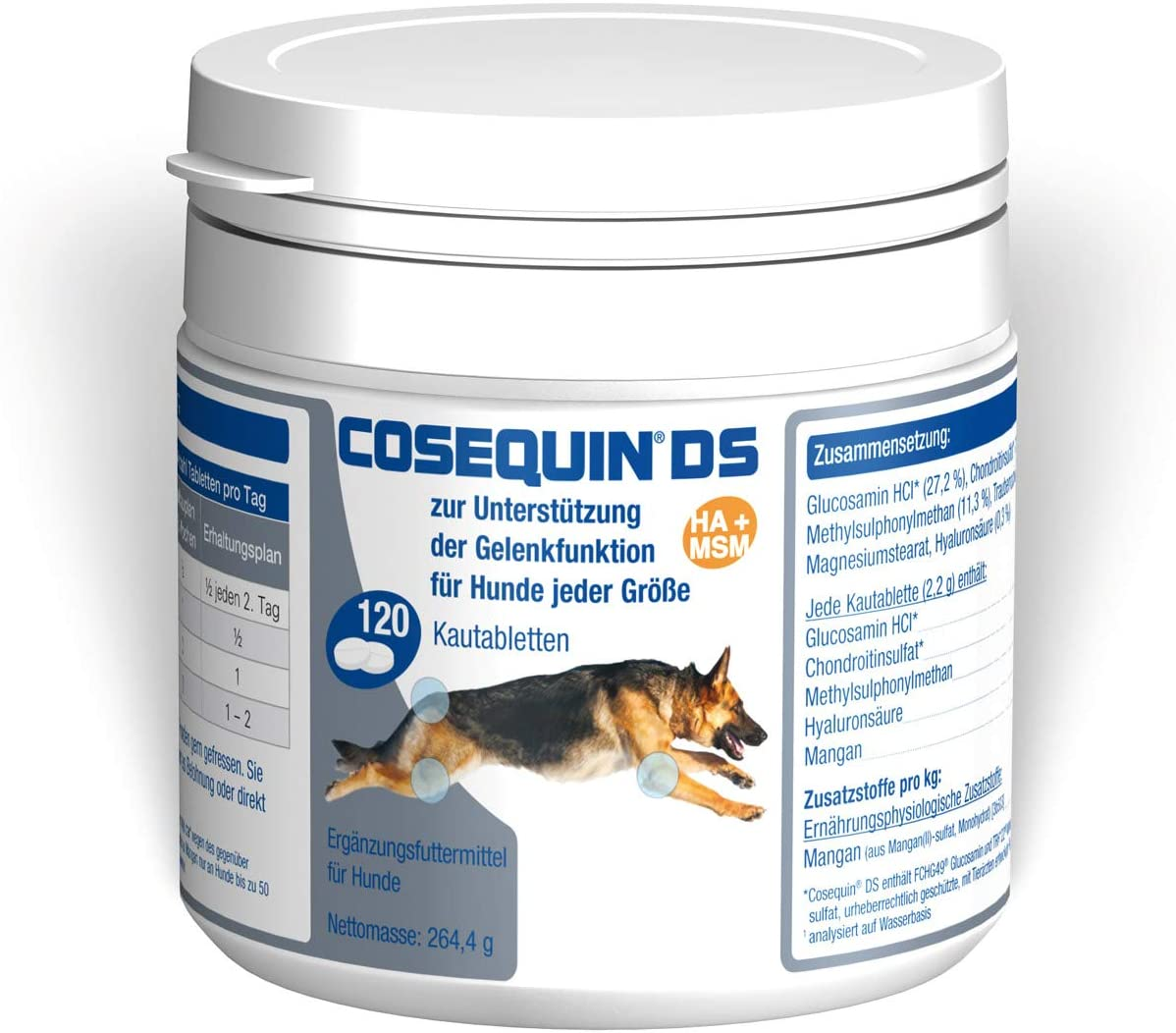 Ecuphar Cosequin DS HA+MSM 120 - Bandeja masticable para perros