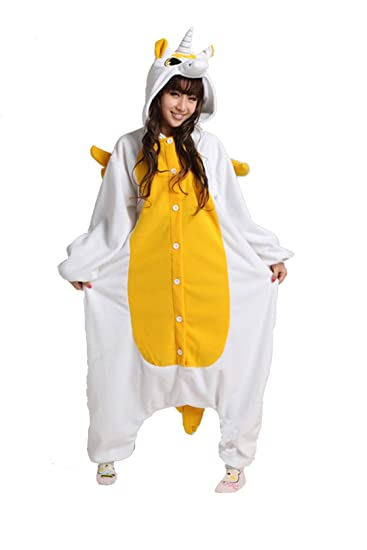 bc4649ecda Image Unavailable. Image not available for. Color  RnMoMo Unisex-adult  Kigurumi Onesie Golden Unicorn Pajamas