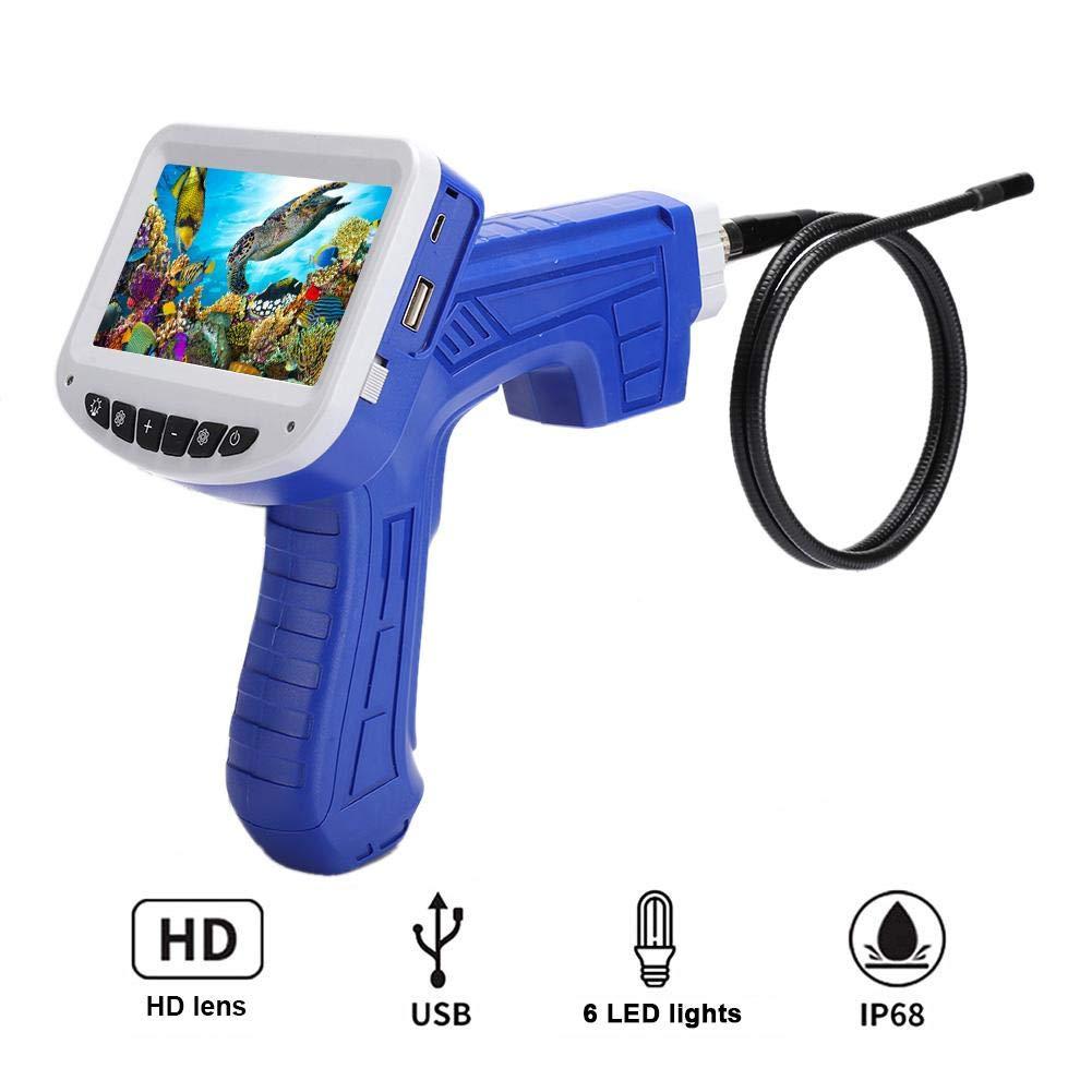 Hakeeta Inspektionskamera wasserdichte 1 m//3,3 ft Flexible Schlangenrohrkamera 2MP Digitales Industrie-Endoskop mit 4,3-Zoll-LCD-Farbdisplay Videoaufzeichnung und Fotoaufnahme