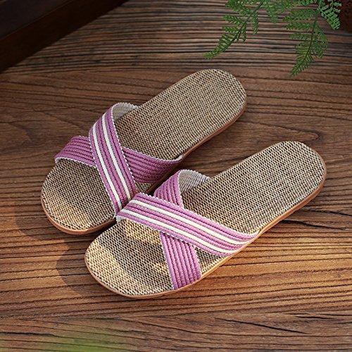 piscina home Uomini estate slittamento pantofole di pantofole fresco estate estate DogHaccd spesso chiaro2 in Biancheria coppie anti pantofole home Viola Donne xB8PwnX