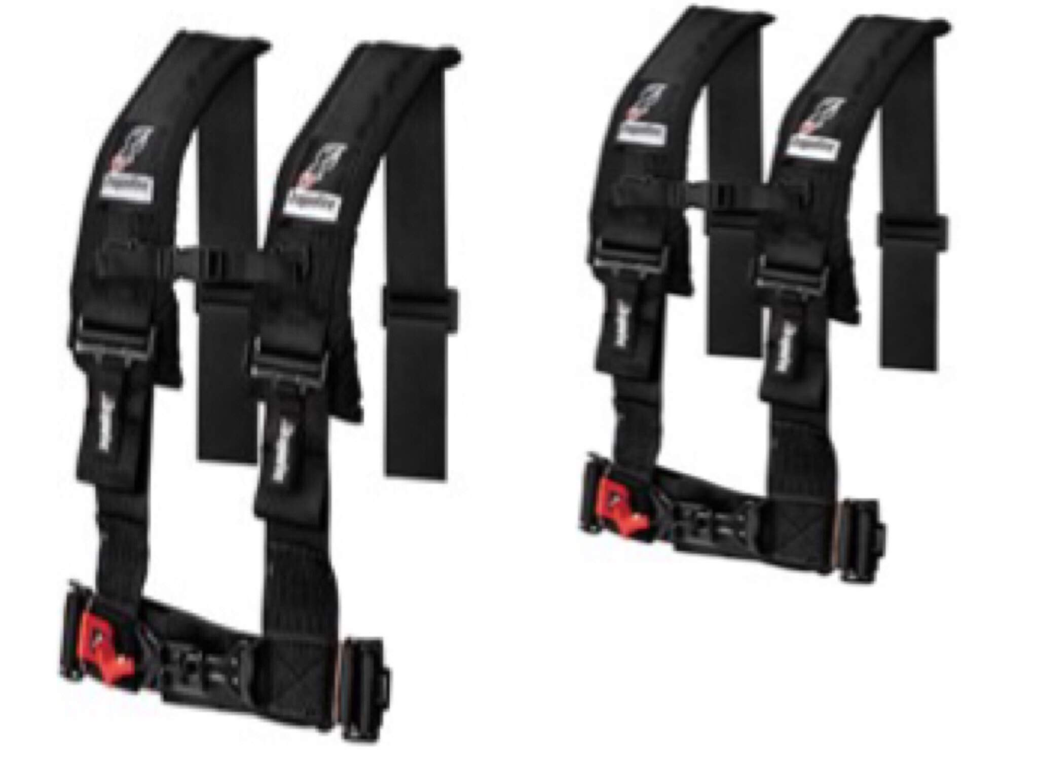 Set of 2 Dragonfire Racing 4-Point Harness 3'' H-Style Harness With Sternum Clip 3''Black For 2019 Honda Talon
