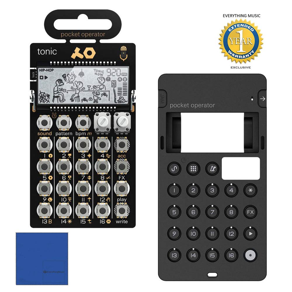 Teenage Engineering PO-32 Tonic Pocket Operator + CA-X Silicone Case Bundlewith 1 Year Free Extended Warranty and Microfiber