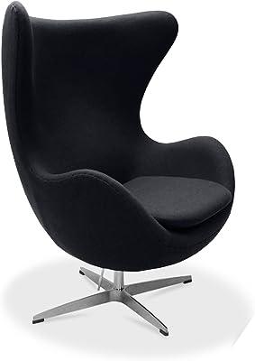 Arne Jacobsen Egg Chair, Cashmere Wool   Black