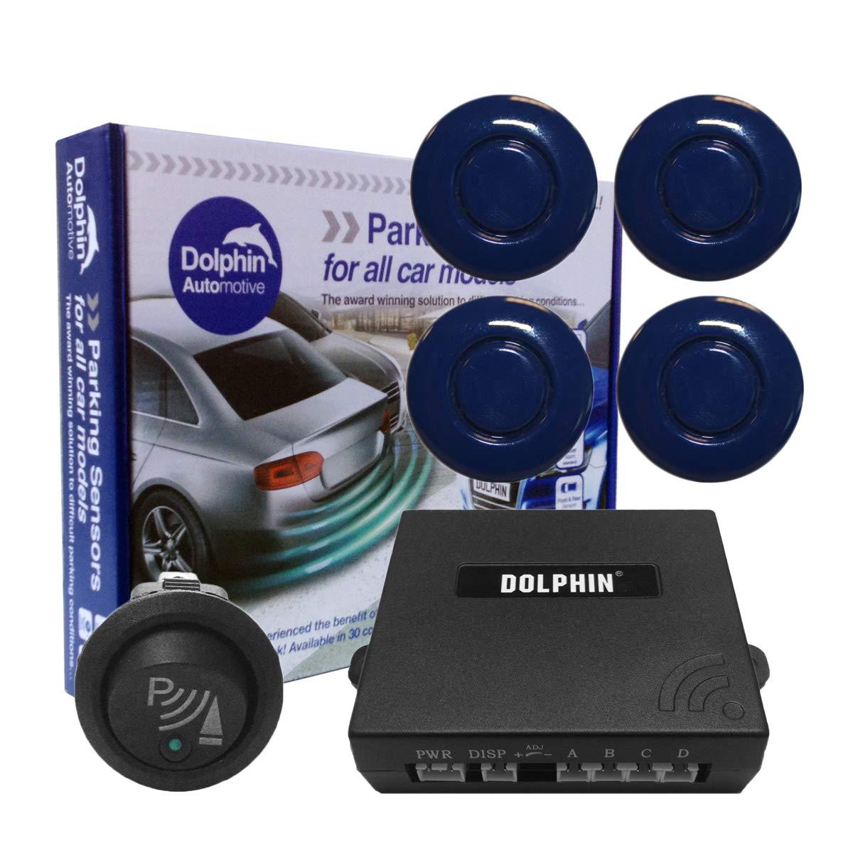 Delf/ín Coche delantera sensores de aparcamiento con sensor de largo 6/m minas y interruptor de aparcamiento en 32/de colores opciones UK