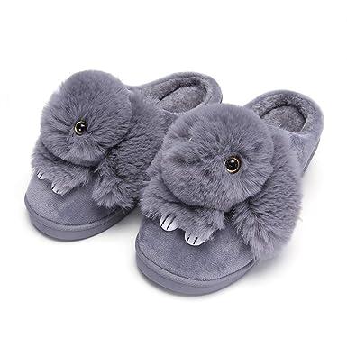 Rojeam Inverno Pantofole da casa per Donna e Uomo Interno Scarpe Peluche  Casa Antiscivolo  Amazon.it  Abbigliamento f24b9168c05