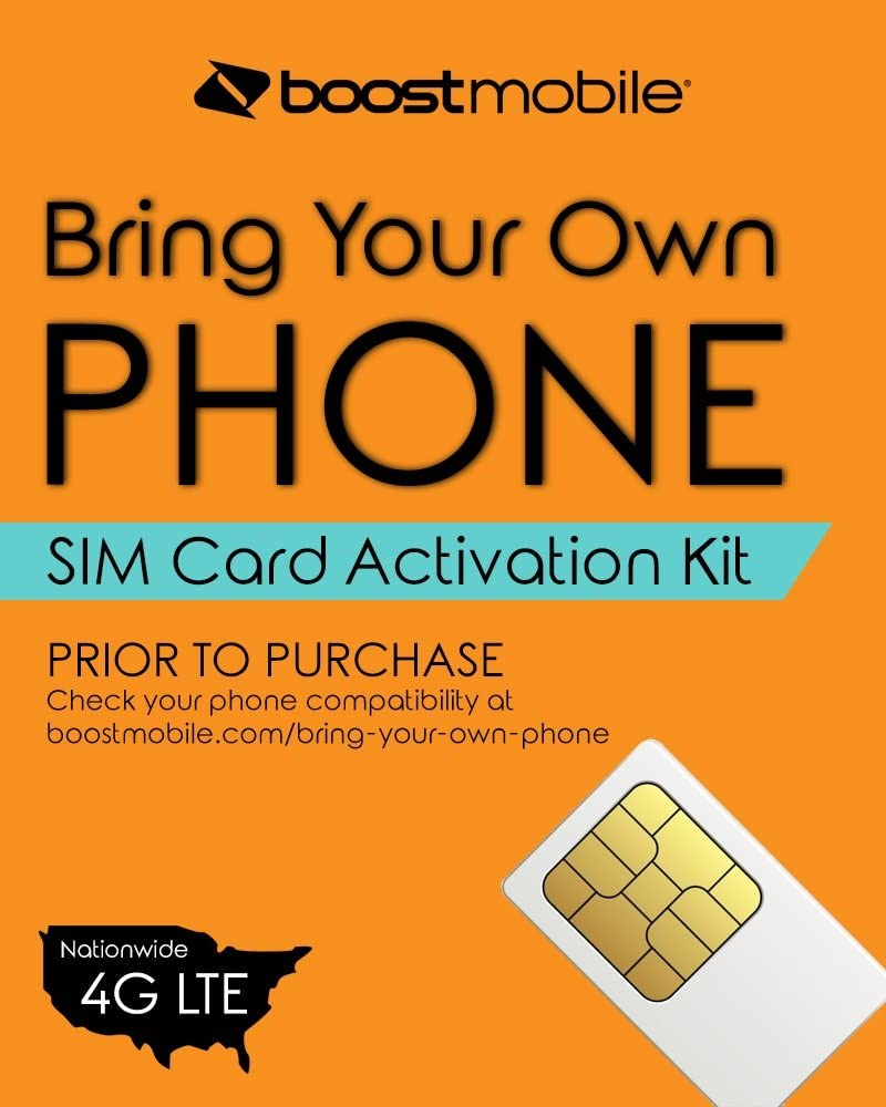 New Boost Mobile WHITE 64K sim card activation kit For IDEN phones only |  eBay