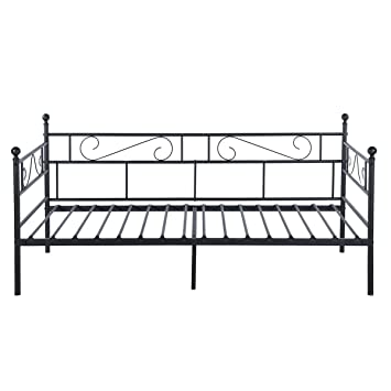 greenforest twin size daybed couch bed framesteel slats platform strong supportbox spring