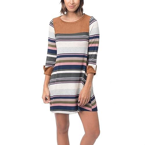 Kukul Vestido informal de Otoño 2017 Moda Mini-vestido de Cuello redondo - Long Sleeve Mini Dress
