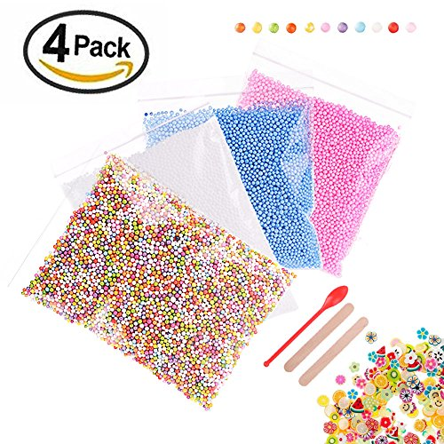 Great Deal! 50000pcs Foam Beads for Slime 0.08-0.18 Inch Craft Foam Balls(4Pack) Ideal For Homemade ...