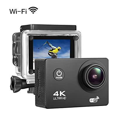 51be62695 Sports Action Camera 4K 16MP Ultra HD Waterproof Sports Camera 170°Wide  Angle  2 quot