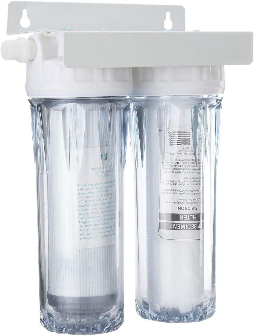 TOOGOO 10 Pulgadas de Doble Doble Grifo de óSmosis Inversa Filtro ...