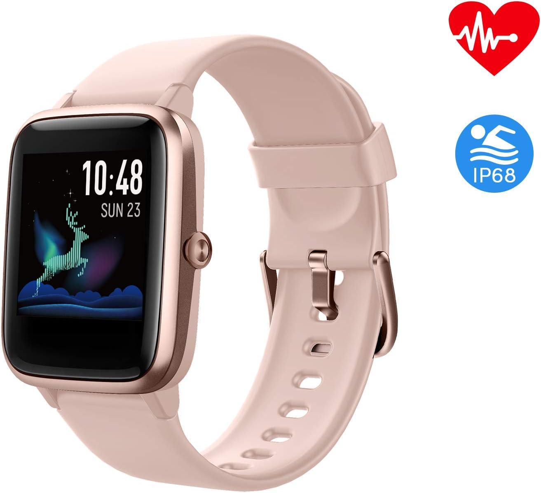 Fitpolo Salud Reloj de Fitness, Rastreador de Actividad con Pantalla Táctil a Color de 1.3 , Monitor de Pulso Cardiaco, Monitor de Sueño, Banda Inteligente Impermeable(Rosa): Amazon.es: Deportes y aire libre