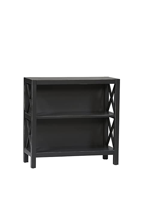 Amazoncom Linon Anna Collection 3Shelf Bookcase Kitchen Dining