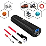 Rechargeable Portable Air Compressor, KUFUNG 12V 150PSI Digital Tire Inflator, Mini Electric Pump for Auto / Bicycle / Ball / Baloon