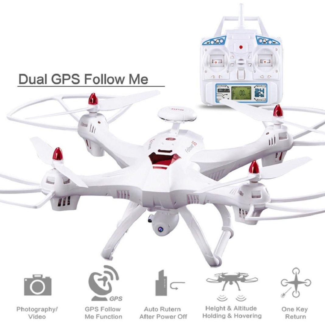 Sisit Globale Drohne X183 mit 5GHz Wifi FPV 1080P Kamera GPS Brushless Quadcopter X183 GPS Quadcopter (Schwarz Weiß