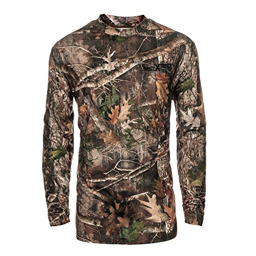 Performance Camo Hunting Shirt: All Season Odor and Insect Protection (Large, Kanati)