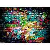 Mohoo 7x5FT Colorful Brick Wall Silk Photography Backdrop Studio Prop Background 2.1x1.5m