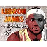 Tri-Seven Entertainment LeBron James Poster Back To Cavs Quote Art Print, 24'' L X 18'' W