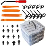 Car Retainer Clips & Plastic Fasteners Kit 635 Pcs, Auto Body Clips With Car Trim Removal Tool-16 Most Popular Sizes…