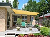Petra's 26 Ft. X 20 Ft. Rectangle Sun Sail Shade. Durable Woven Mildew Resistant Outdoor Patio Fabric w/ Up To 90% UV Protection & Mounting Hardware. 26x20 Foot. (Desert Sand)